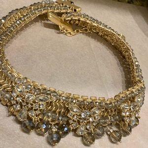 Badgley Mischka! Fancy Beaded Drop Collar Necklace